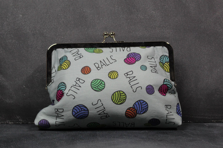 "Chomp Chomp Clutch bag in Larry ""Balls"""