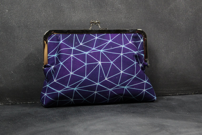 Chomp Chomp Clutch Bag in 80s Upside Down Fractal Web
