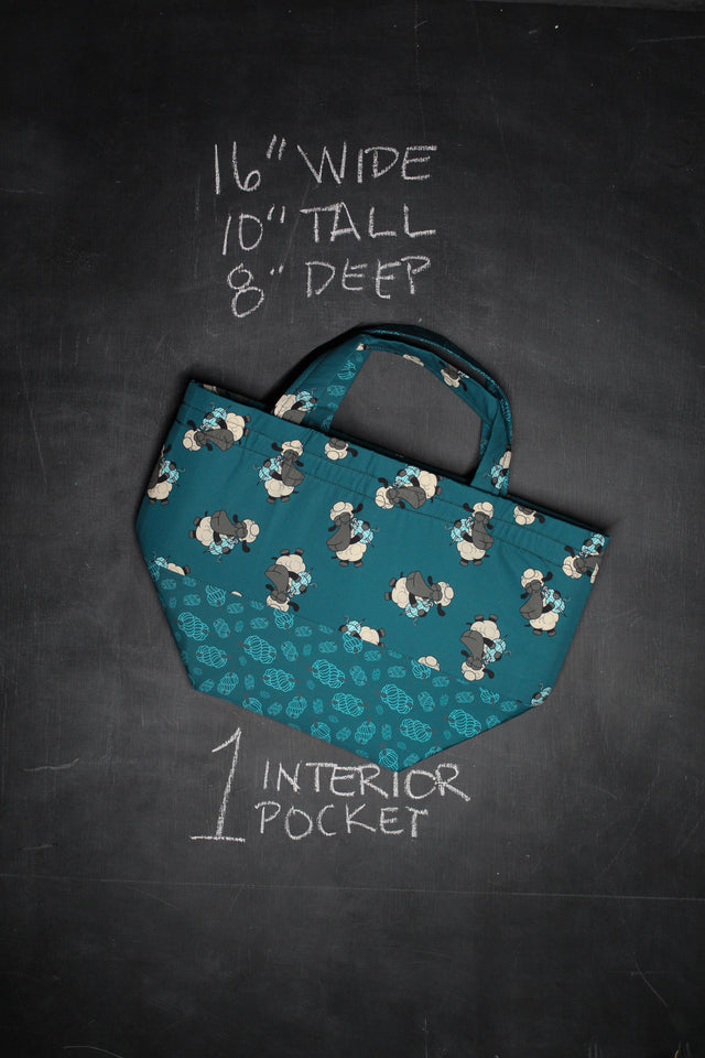 Bucket Tote Bag in Bag Buddies Sheeple