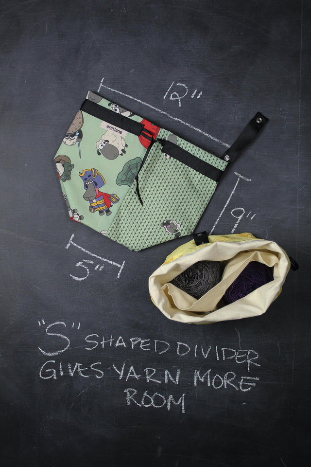 Twofer Project Bag in Outlander Sheeple