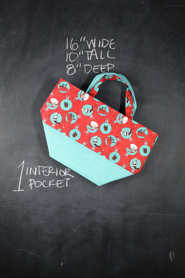 Bucket Tote Bag in Nightmare Before Christmas Ornaments