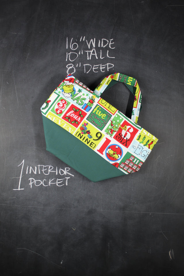 Bucket Tote Bag in the 12 Days of Grinchmas