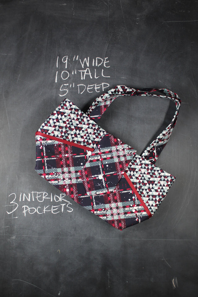 Ewesful Tote Bag in Christmas Plaid