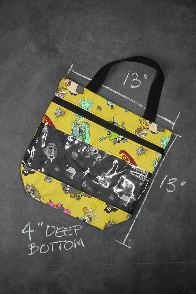View Ewe Tote Bag in Wizard of Oz Sheeple