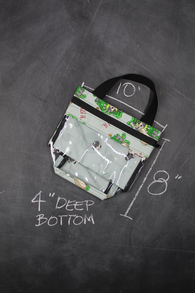 "Mini View Tote Bag in Larry ""Elf It."""