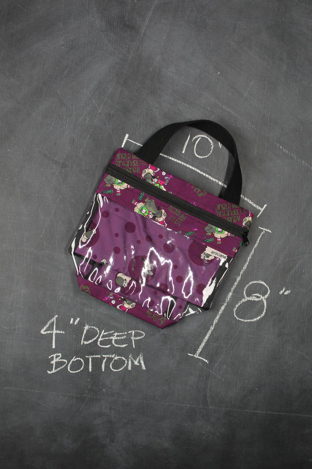 "Mini View Tote Bag in Demi ""Jingle Bells, Zinfandel, Need More Cabernet!"""