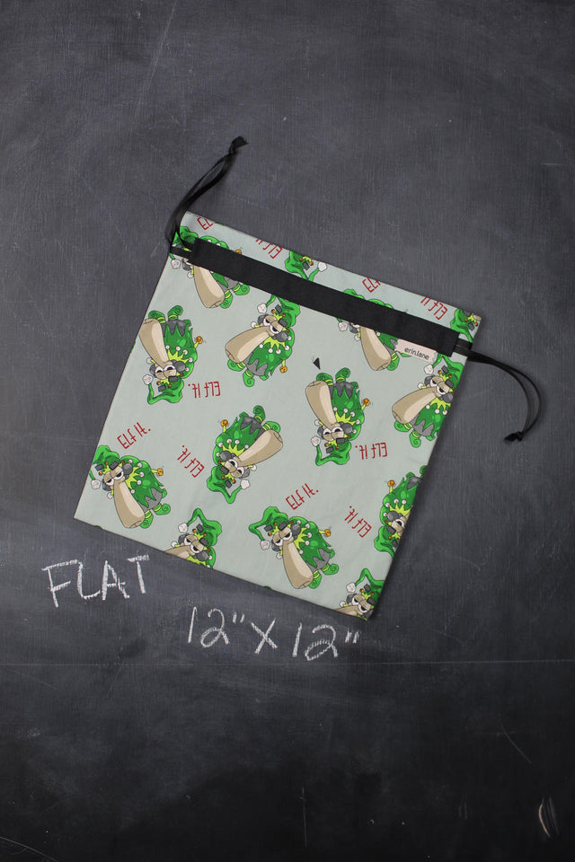 "Small Project Bag in Larry ""Elf It."""