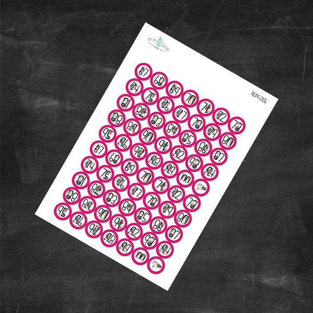 Planner Stickers Counting Sheeple in Pink #67-100