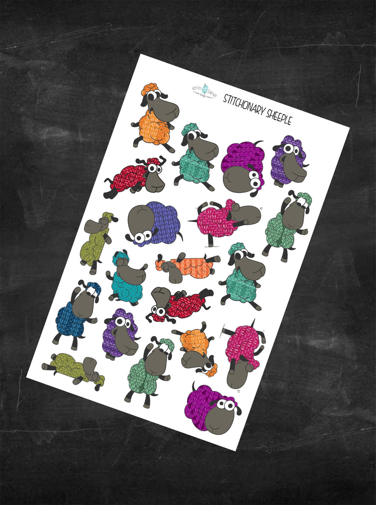 Planner Stickers Stitchonary Sheeple Characters