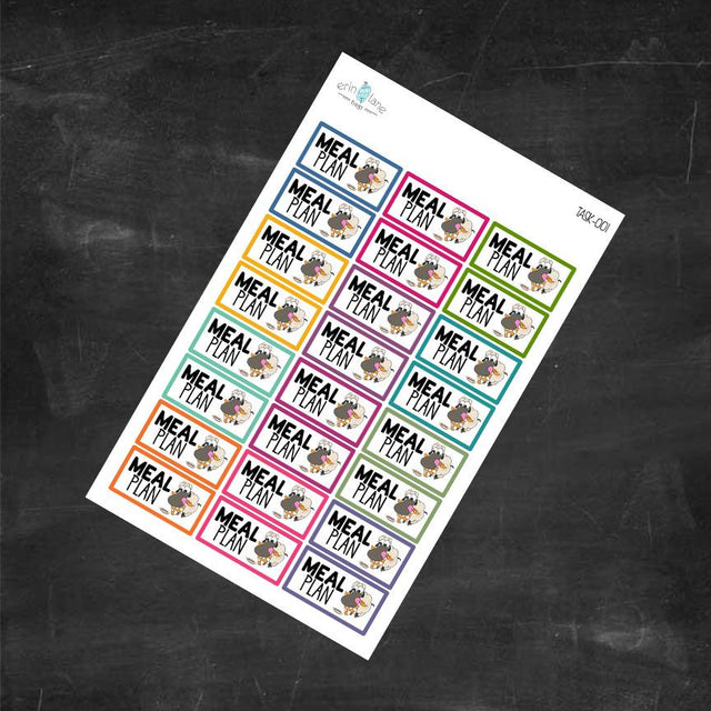 Planner Stickers Meal Plan Labels
