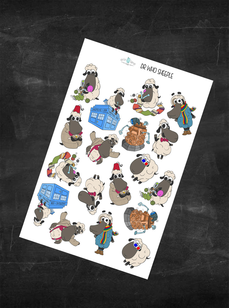 Planner Stickers Dr Who Sheeple Characters