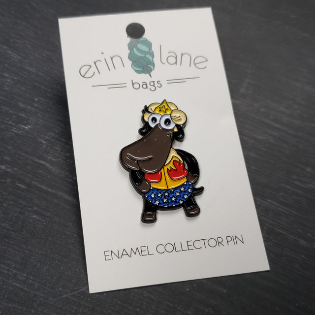 Enamel Pin in Wonder Woman Sheeple