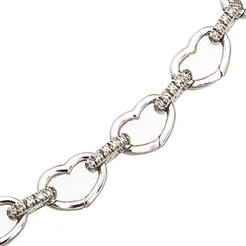 Basha Heart Shaped Open-Link with Diamond Bars (small)