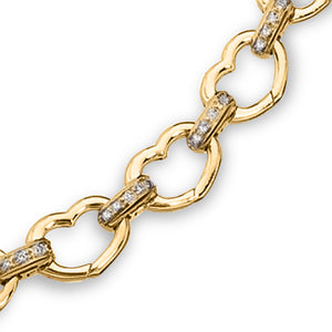 Basha Heart Shaped Open-Link with Diamond Bars (Large)