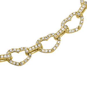 Basha Heart Shaped Pave Open-Link (Small)