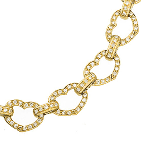 Basha Heart Shaped Pave Open-Link