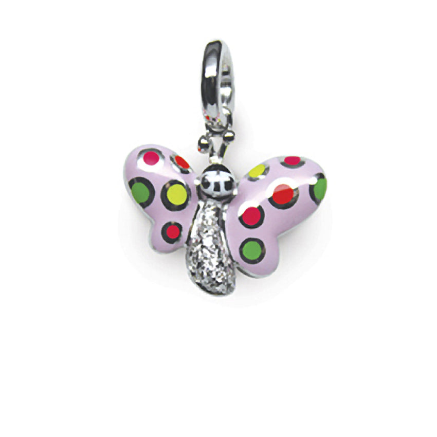 Butterfly with Fluorescent Polka Dots