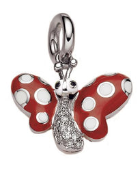 Butterfly with White Polka Dots