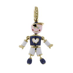 Boy Charm with Heart