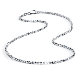 18K Diamond Cut-Like Necklace