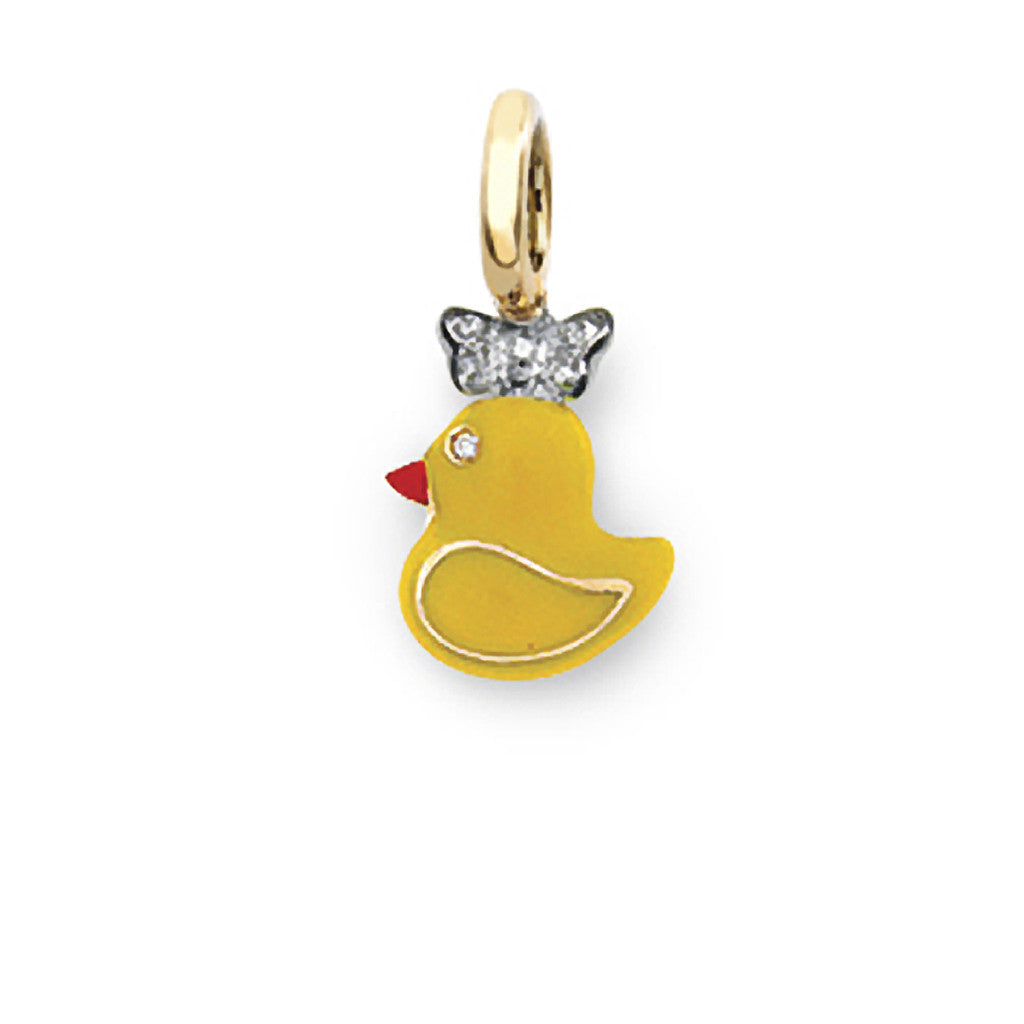 Rubber Duckie with Bow