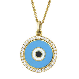 Diamond Rim Eye Necklace