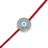 18K Evil Eye with Diamonds on Red Cord