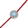 Evil Eye with Diamonds on a Red Cord