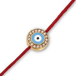 18K Evil Eye with Diamonds on a Red Cord