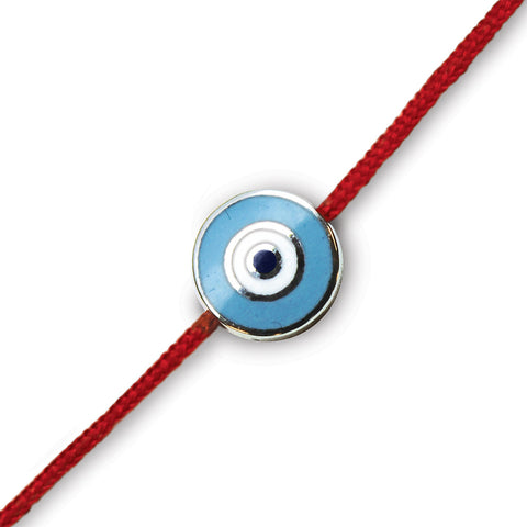 Round Evil Eye on a Red Cord