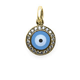 Round Evil Eye Large Diamond Rim