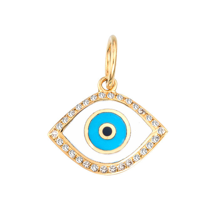 EVIL EYE CHARM WITH DIAMONDS