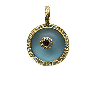 Blue Topaz Evil Eye Large