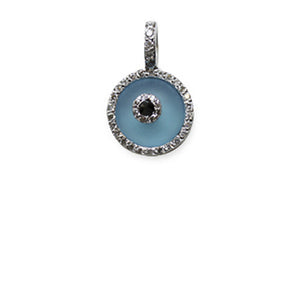 Blue Topaz Evil Eye Small