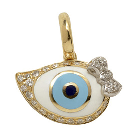 Evil Eye w/bow accent