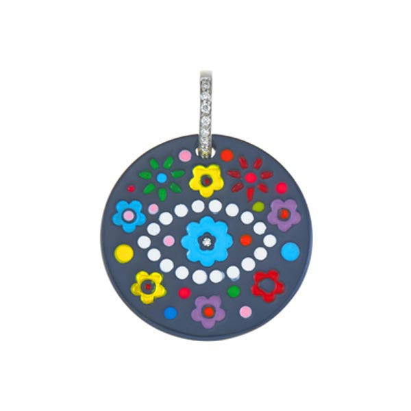 Titanium Eye Multi-Flower Charm