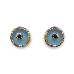 Blue Topaz Evil Eye