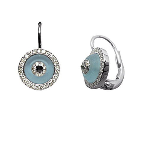 Blue Topaz Evil Eye (clip on)