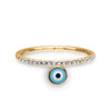 Diamond Band with Evil Eye