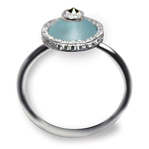 Blue Topaz Evil Eye Ring