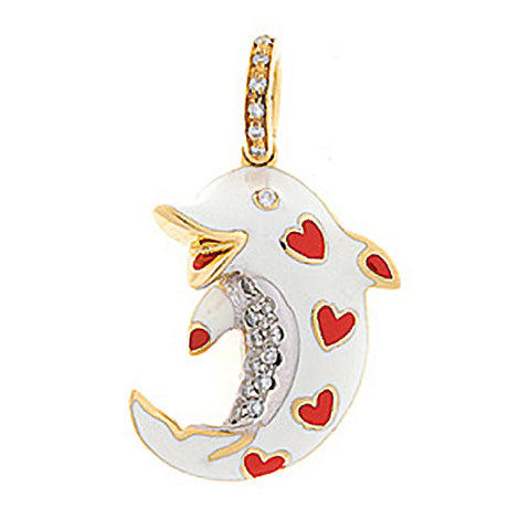 Dolphin with Hearts