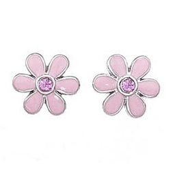 Daisy Enamel Earrings
