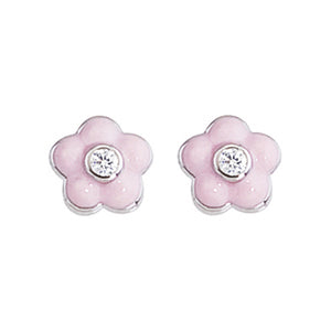 Flower Enamel Earrings