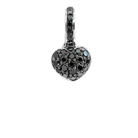 Black Diamond Pave Heart (small)