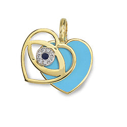 Evil Eye Sliding Heart - Available in White Gold
