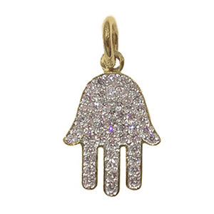 PAVE DIAMOND HAMSA CHARM LARGE
