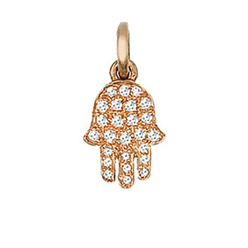 Pave Diamond Hamsa - Small