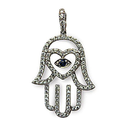 Diamond Hamsa w/Eye (large)