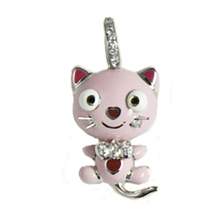 Kitty Cat with Diamond Bow