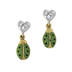 DIamond Heart Ladybugs